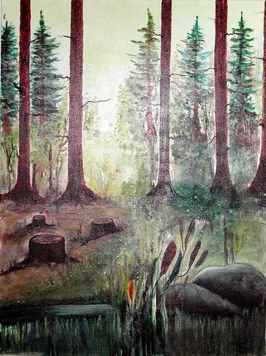 Steve Soon, waldromanze, Natur: Wald, Expressionismus
