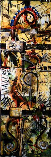 Steve Soon, saflor moresca, Abstraktes, Radikale Malerei