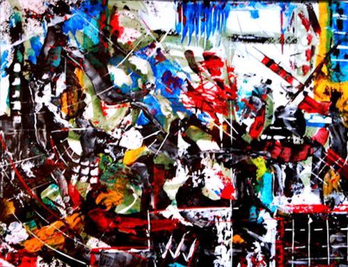 Steve Soon, lookmehappy, Abstraktes, Radikale Malerei