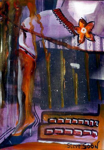 Steve Soon, poweract, Akt/Erotik: Akt Frau, Neue Wilde, Abstrakter Expressionismus