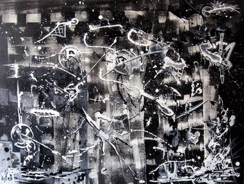 Steve Soon, tabula rasa I, Abstraktes, Radikale Malerei