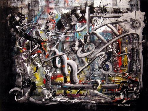 Steve Soon, orwell`sche world, Abstraktes, Radikale Malerei
