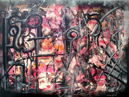 Steve Soon, machineroom, Abstraktes, Radikale Malerei