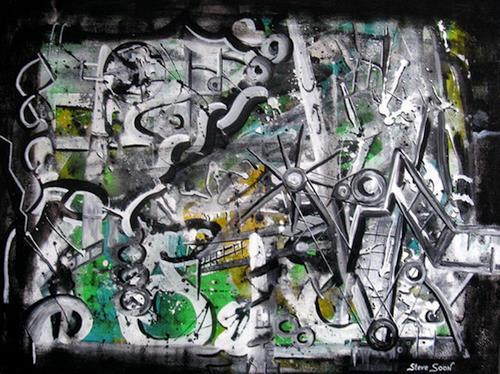 Steve Soon, tooltown, Abstraktes, Radikale Malerei