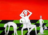Steve-Soon-Menschen-Familie-Gegenwartskunst--Neo-Expressionismus