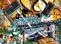 Steve-Soon-Diverse-Verkehr-Moderne-Abstrakte-Kunst-Radikale-Malerei