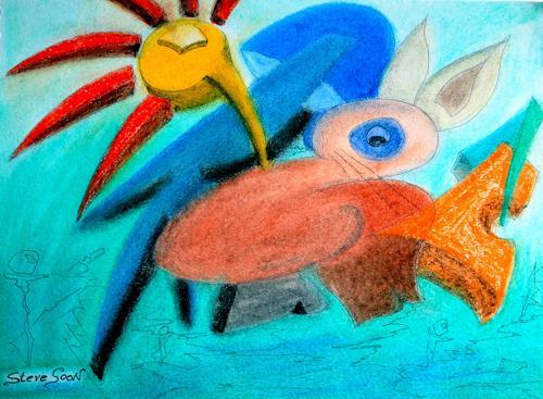 Steve Soon, keinrumpfhahn, Abstraktes, Abstrakter Expressionismus