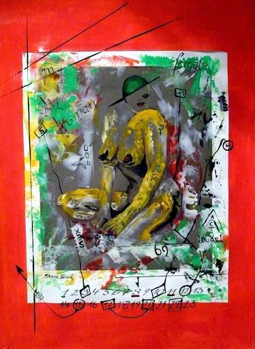 Steve Soon, femme fatale, Akt/Erotik: Akt Frau, Neue Wilde, Abstrakter Expressionismus