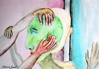Steve-Soon-Menschen-Gruppe-Moderne-Andere-Neue-Figurative-Malerei