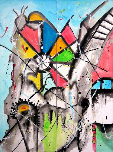 Steve Soon, under construction, Abstraktes, Abstrakter Expressionismus