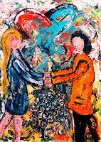 Steve-Soon-Menschen-Paare-Gegenwartskunst-Neo-Expressionismus