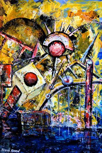 Steve Soon, crash of composition, Abstraktes, Neo-Expressionismus