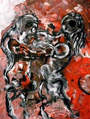 Steve Soon, Gewalten, Gefühle: Aggression, Neo-Expressionismus, Abstrakter Expressionismus