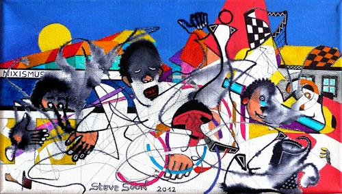 Steve Soon, Namba (Nr.) Woan, Abstraktes, Radikale Malerei