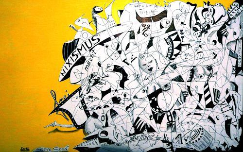 Steve Soon, anno domini 2160, Abstraktes, Neue Wilde