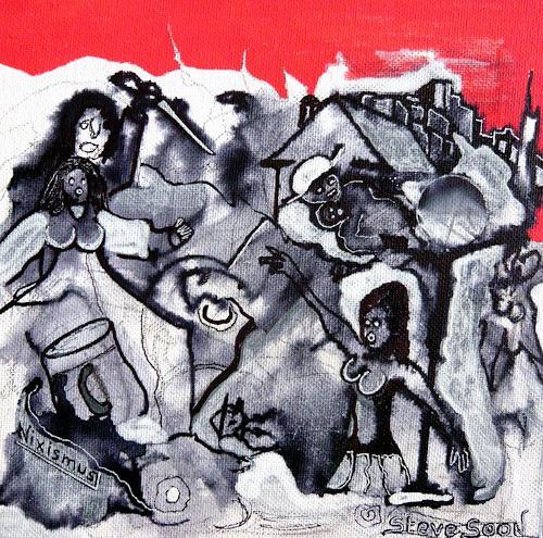 Steve Soon, die Moritat des M.F. - II, Bewegung, Radikale Malerei