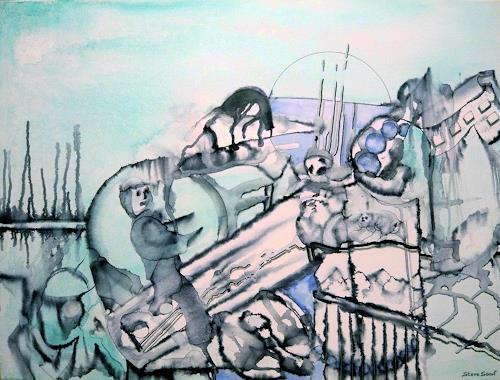 Steve Soon, verrückbaren Vorsatz vermeiden, Abstraktes, Neo-Expressionismus