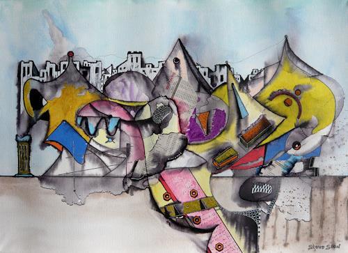 Steve Soon, EL e Ments, Abstraktes, Neue Wilde, Abstrakter Expressionismus