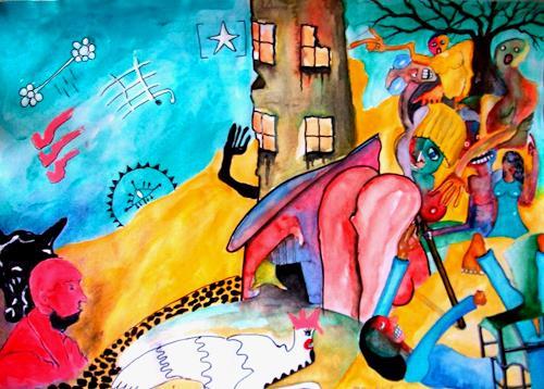 Steve Soon, GEISTe(h)rFURCHT, Fantasie, Neue Wilde, Abstrakter Expressionismus