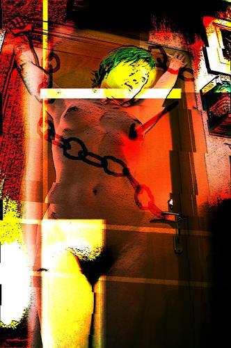 Steve Soon, la donna cruz  VI, Akt/Erotik: Akt Frau, Postmoderne, Abstrakter Expressionismus