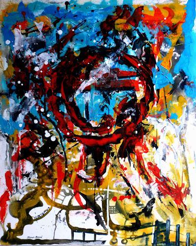Steve Soon, Loki, Abstraktes, Neo-Expressionismus