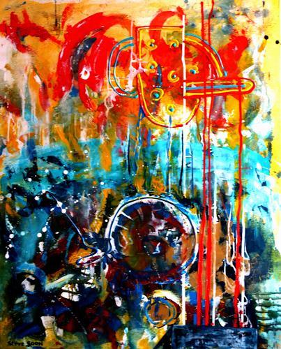 Steve Soon, im Brennpunkt, Abstraktes, Neo-Expressionismus