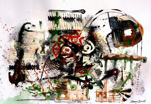 Steve Soon, Rundatur des Quadrats, Abstraktes, Radikale Malerei