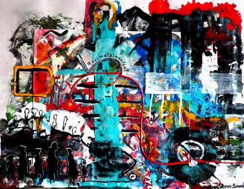 Steve Soon, Roulmotzlkoufla, Abstraktes, Radikale Malerei