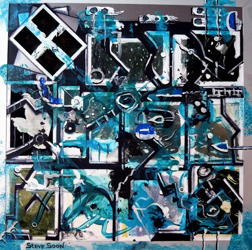 Steve Soon, Fragmentismus mit Selbstporträt, Abstraktes, Radikale Malerei