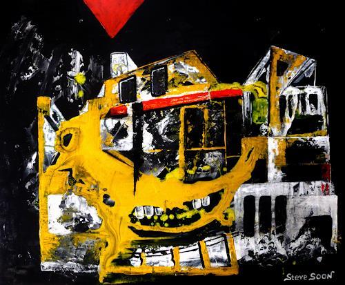 Steve Soon, Dekonstruktion, Architektur, Skurril, Radikale Malerei, Abstrakter Expressionismus