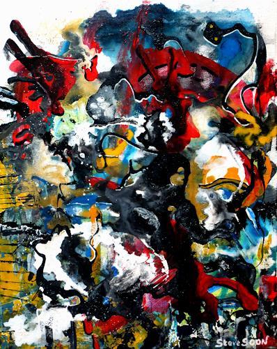 Steve Soon, sculptress at work, Abstraktes, Radikale Malerei, Abstrakter Expressionismus