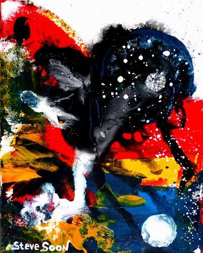 Steve Soon, nonZenz II, Abstraktes, Neue Wilde, Abstrakter Expressionismus