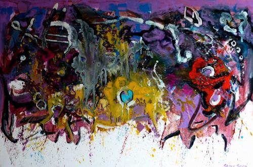 Steve Soon, my godness, Abstraktes, Radikale Malerei
