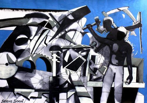 Steve Soon, Monumental - ein Kunstwerk entsteht, Situationen, Neo-Expressionismus, Expressionismus, Moderne