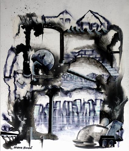 Steve Soon, black`n white - series: ONE-ONE, Abstraktes, Technik, Neo-Expressionismus