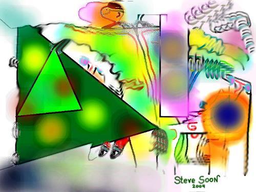Steve Soon, o.T., Skurril, Abstraktes, Neue Wilde