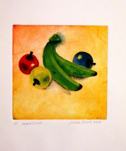 Steve Soon, Stillleben - Obst, Stilleben, Pop-Art