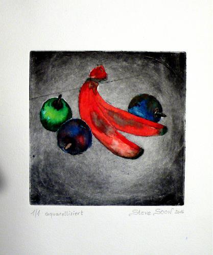 Steve Soon, Stillleben-Obst, Stilleben, Pop-Art