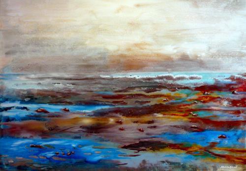 Steve Soon, CH-CH-VIII, Landschaft: See/Meer, Neo-Expressionismus, Expressionismus
