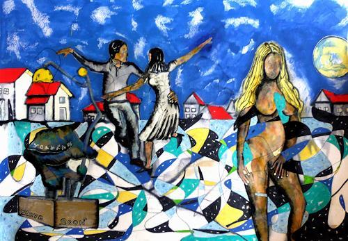 Steve Soon, la danza erotiqua, Diverse Menschen, Neo-Expressionismus