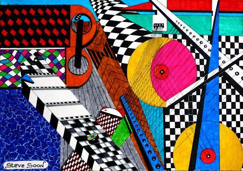 Steve Soon, Perikal   II, Technik, Konstruktivismus, Abstrakter Expressionismus