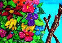 Steve-Soon-Pflanzen-Blumen-Moderne-Expressionismus-Neo-Expressionismus