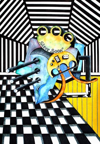 Steve Soon, Perikal  V, Technik, Konstruktivismus, Abstrakter Expressionismus
