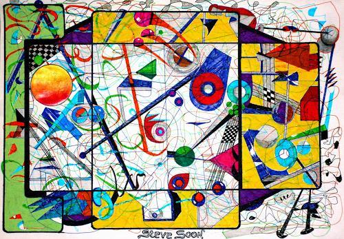 Steve Soon, zwischen Raum und Zeit, Skurril, Radikale Malerei, Abstrakter Expressionismus