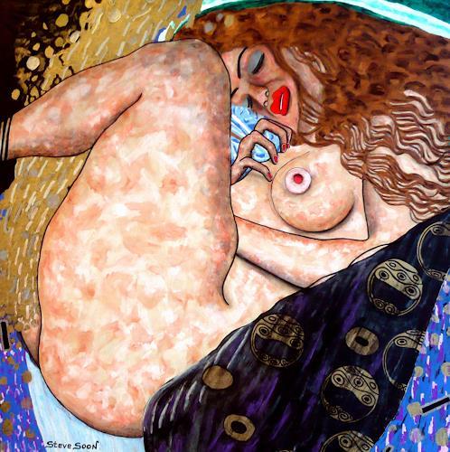 Steve Soon, Klim-Soon, Akt/Erotik: Akt Frau, Neo-Expressionismus, Abstrakter Expressionismus