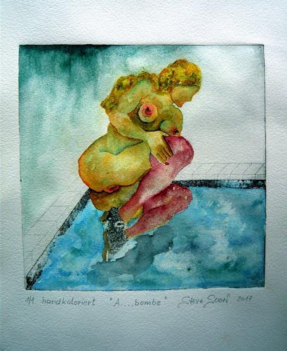 Steve Soon, A....bombe, Akt/Erotik: Akt Frau, Realismus, Abstrakter Expressionismus