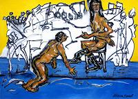 Steve-Soon-Menschen-Paare-Diverse-Erotik-Moderne-Expressionismus-Neo-Expressionismus