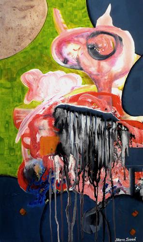 Steve Soon, (Mr.) Ingo Flam, Skurril, Abstraktes, Action Painting, Abstrakter Expressionismus