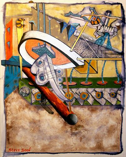 Steve Soon, technic color, Technik, Konstruktivismus, Abstrakter Expressionismus