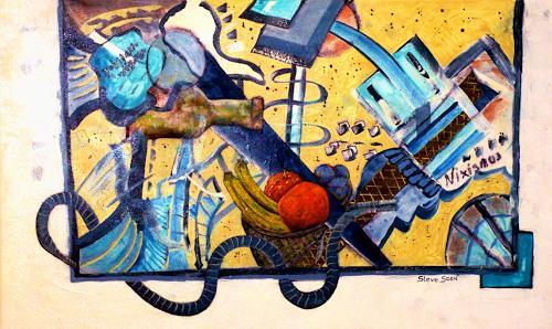 Steve Soon, Frugalität, Stilleben, Pflanzen: Früchte, Radikale Malerei, Abstrakter Expressionismus